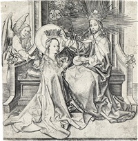 the coronation of the virgin by martin schongauer