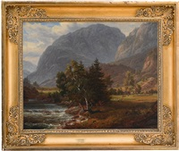 fortundalen (after j. c. dahls) by thomas fearnley