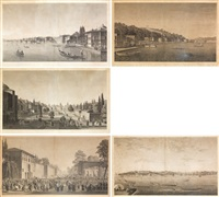 palais de beschik (+ 4 others; set of 5) by antoine ignace melling