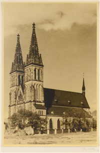 the basilica of st. peter and paul in vyšehrad fortress by josef sudek