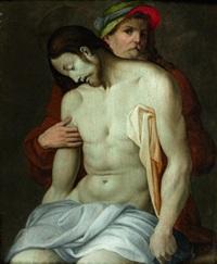 le christ dans les bras de joseph d'arimathie by pontormo (jacopo carucci)