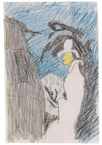 mann im profil heringsdorf by lyonel feininger