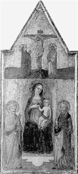 la vierge à l'enfant entre saint paul et saint pierre by agnolo di taddeo gaddi