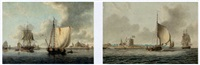 shipping off hurst castle (+ shipping off calshot castle; pair) by monamy swaine