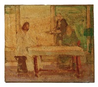study for christ at the home of mary and martha-5 by henry ossawa tanner