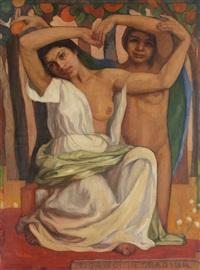 the orange sellers (gypsy women in the garden) by cecilia cutescu storck