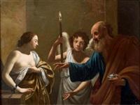 sainte agathe visitant saint pierre en prison by simon vouet