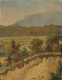 landscape with sand pit and untitled (2 works) by william sidney mount