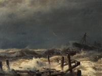 distress at sea by andreas achenbach
