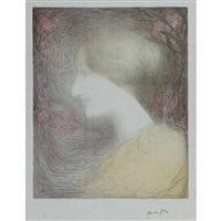 tete de femme, de profil a gauche by edmond françois aman-jean
