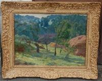 les foins dans la campagne vallonnée by charles-jean agard