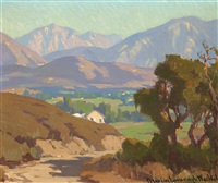 san gabriel mountains, view from flintridge by marion kavanaugh wachtel