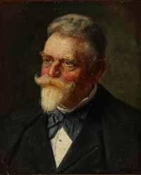 portrait of a gentleman by michael peter ancher