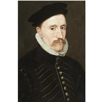 portrait of a gentleman, probably sir thomas gresham (1518-1579) by steven van der meulen