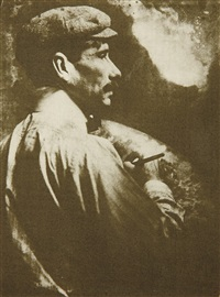 untitled (artist with palette) by gertrude kasebier
