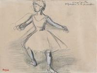 danseuse (préparation à la seconde) by edgar degas
