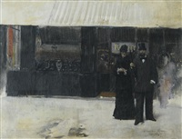 couple devant une bijouterie by jean béraud