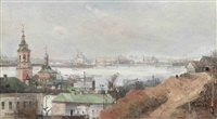 view of the kremlin and the moskva river by fedor ivanovich iasnovskii