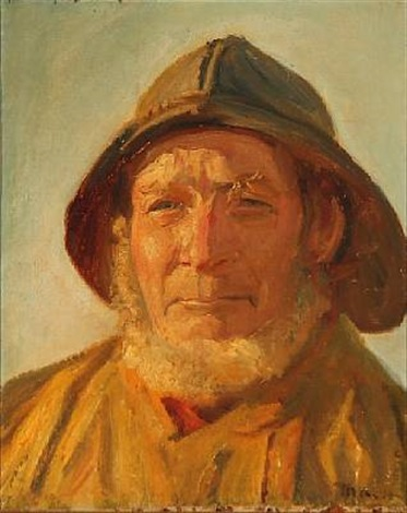 fisker i eftermiddagssolen by michael peter ancher
