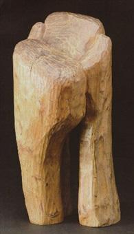 hoveder udskåret af træ