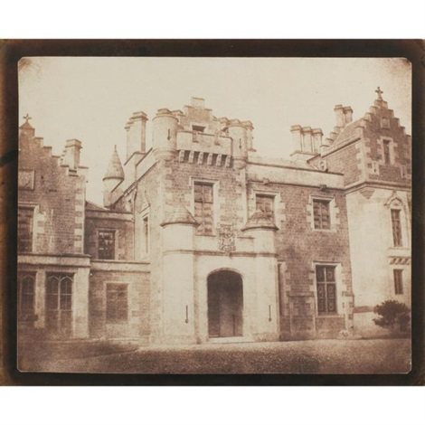 door of abbotsford by william henry fox talbot