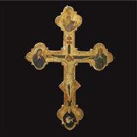 processional cross (recto/verso) by jacopo del sellaio