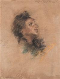 ritratto di giovinetta by antonio mancini