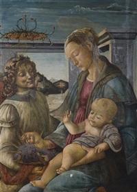 vierge à l'enfant avec un ange by sandro botticelli