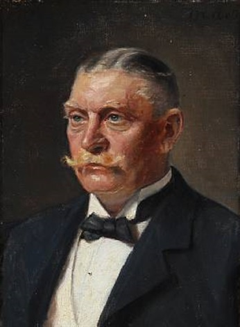 portrait of georg jørgensen president of skagen badehotel by michael peter ancher