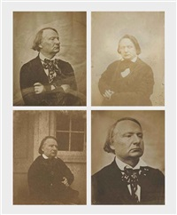 portraits de victor hugo, jersey (4 works) by charles hugo and auguste vacquerie