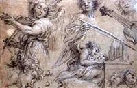 etudes d'anges musiciens by jean-baptiste corneille