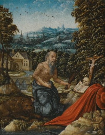 the penitent saint jerome in the wilderness by dutch school-southern (16)