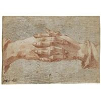 clasped hands (study) by andrea boscoli