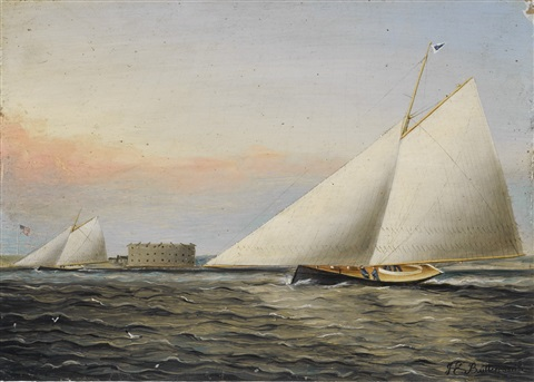 new york harbor by james edward buttersworth