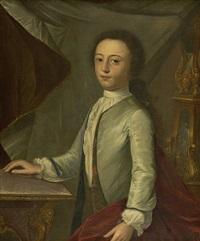 portrait of a young gentleman (john hook ?) by cosmo alexander