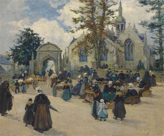 après la messe en bretagne by fernand marie eugène legout gérard