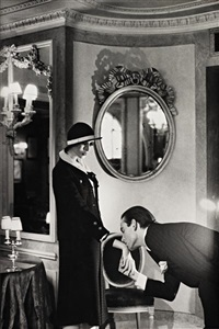 upstairs at maxim's paris (from private property portfolio, suite ii) by helmut newton