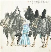 草原初雪 by liu dawei