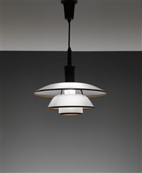 ceiling light, type 4/4 shades by poul henningsen