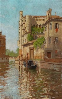 kanal in venedig by romolo tessari