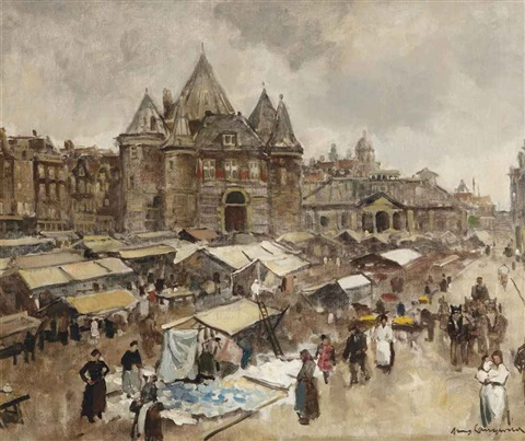 the waag on the nieuwmarkt amsterdam by frans langeveld