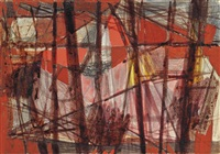 themes in red ii by wilhelmina barns-graham