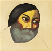 head of a peasant by kazimir malevich