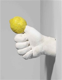 lemon hand by urs fischer