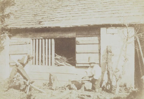 the woodcutters nicole pullen sawing cleaving by william henry fox talbot