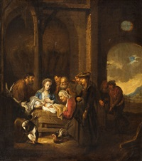 the adoration of the shepherds by ferdinand bol
