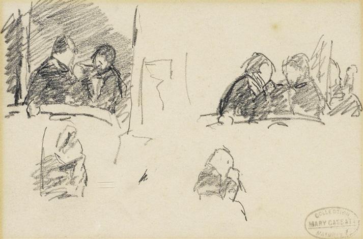 femme assise de profil 2 others various sizes 3 works by mary cassatt