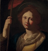 die hl. ursula mit fahne by pontormo (jacopo carucci)
