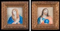 la vierge aux mains jointes et le christ bénissant (2 works) by french school (17)