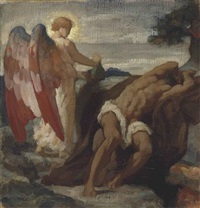 study for elijah in the wilderness by lord frederick leighton